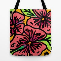 Bold Flora Tote Bag by Lisa Argyropoulos | Society6