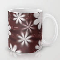 Melted Chocolate and Milk Flowers Pattern Mug by Bluedarkat Lem | Society6