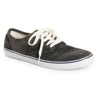 Black Wash Canvas Sneaker