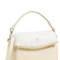 kate spade new york 'cobble hill little minka' straw foldover bag | Nordstrom