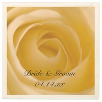 White Rose Wedding Paper Napkins
