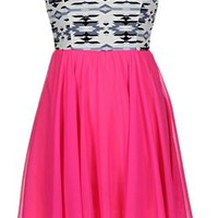Hotpink Tribal Sweetheart  Dress