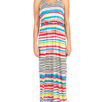 Lush Clothing - Painted Stripes Maxi Dress