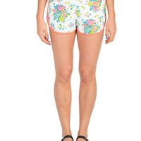 Floral Neon Trim Lounge Shorts