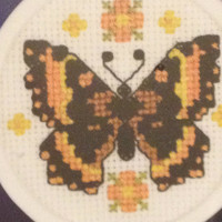 Beautiful Butterfly Cross Stitch Kit Designs Counted Cross Stitch Butterfly Beau Papillon Frame Included