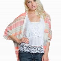 DEBUT STRIPED CARDIGAN