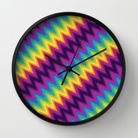 Zig Zag Chevron Pattern G36 Wall Clock by MedusArt