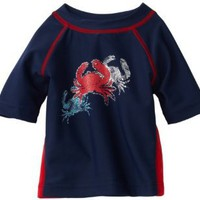 Flapdoodles Baby-boys Infant Cool Crab Rashguard Shirt