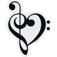 Music Notes Heart Sticker