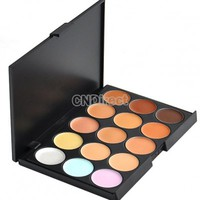 New Professional 15 Color Concealer Camouflage Makeup Palette