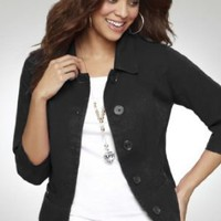 Avenue Plus Size Cropped Jacket