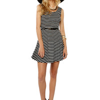 Papaya Clothing Online :: STRIPE FLARE SLEEVELESS DRESS