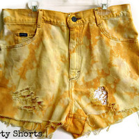 Lace Underlay Shorts Creamsicle Colored by shortyshorts on Etsy