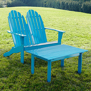 Capri Breeze Adirondack Loveseat Collection | Outdoor and Patio ...