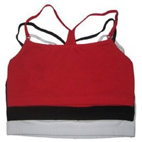 3-pack, Strappy Racerback Sport Bras,Fruit of the Loom