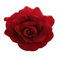 Red Rose Flower Hair Clip