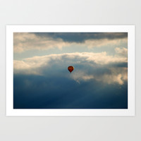 Balloon Art Print by Claude Gariepy