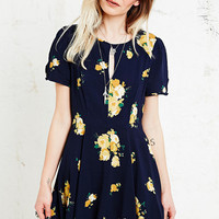 Kimchi Blue Ruby Dress in Navy - Urban Outfitters