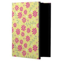 Elegant Yellow Garden Pink Floral iPad Air Case