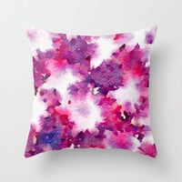 Love Blooms Throw Pillow by Jacqueline Maldonado