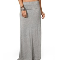 Heather Gray Maxi Skirt