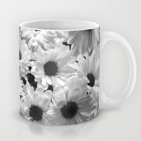 Daisy Chaos in Black and White Mug by micklyn | Society6