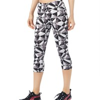 LLD Geo Shatter Cropped Leggings