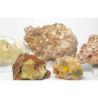 Calcite Bauxite Pyrophyllite Smithsonite Adamite Yellow Mineral Collection