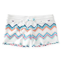 Chevron Knit Cutoff Shorts