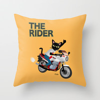 The Rider Throw Pillow by BATKEI | Society6