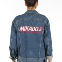 Vintage Mikado Embroidered Denim Patch Jacket