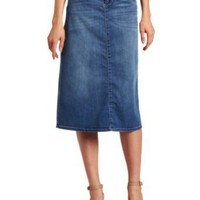Democracy Women&#x27;s 30 Inch Denim Skirt