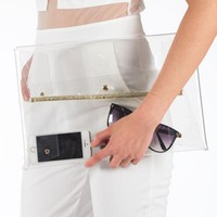 Chic See-through Clutch