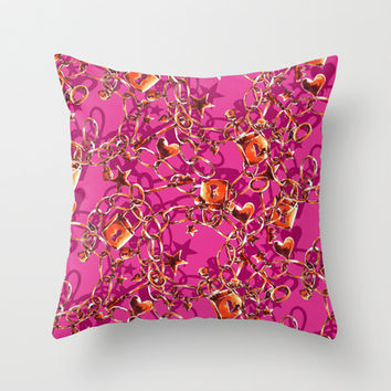 Glam Tack Throw Pillow by Aimee St Hill