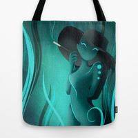 Enora, Blue Smoke Tote Bag by LouJah | Society6