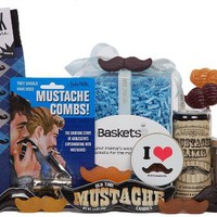The Mr. Mustachio unBasket - Men's Mustache Love Gift Basket