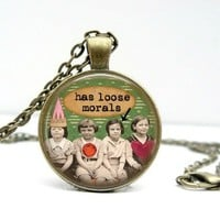 Loose Morals Friendship Dome Pendant Necklace