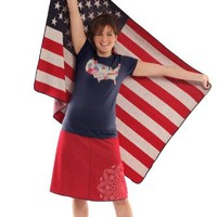 Large US American Flag Throw Blanket - Made in the USA of 75% Pre-Consumer Material