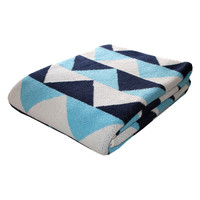 I liked this design on #Fab. Triangles Eco Throw Marine