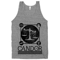 Candor on an Athletic Grey Tank Top