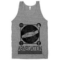 Abnegation on an Athletic Grey Tank Top