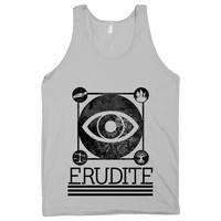 Erudite on a Silver Tank Top