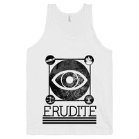 Erudite on a White Tank Top