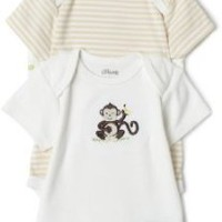 Little Me Monkey 3 Pack Bodysuit, Ivory Multi
