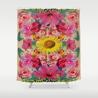 VINTAGE SPRING Shower Curtain by Nika