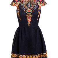 VALENTINO | Folk Embroidered Guipure Lace Dress | Browns fashion & designer clothes & clothing