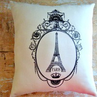 Eiffel Tower Pillow, French Country Home, Paris, French Decor, Cottage Decor | Luulla