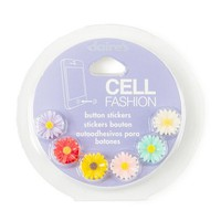 Sunflower Cell Fashion Button Stickers Set of 6 | Claire's