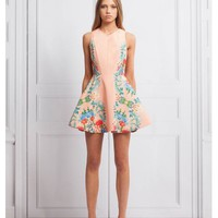 KEEPSAKE Second Chance Dress BOTANICAL PEACH PRINT