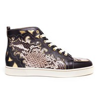 CHRISTIAN LOUBOUTIN | Arizona Python and Leather Hi-Tops | Browns fashion & designer clothes & clothing